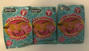 Breyer Mini Whinnies Series 2 Lot of 3 Blind Horses, NEW