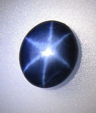 10 ct+ SUPERB SHARP Beautiful 6 Rays Star Royal Blue SAPPHIRE Oval Cabochon G5