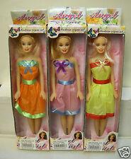 "#2595 NRFB L & M Trading - 3 Angel Girl Inexpensive 11 1/2"" Fashion Dolls"