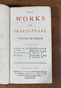 Antique Book: The Works of William Shakespeare, 1739, Rare