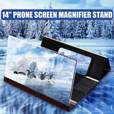 14'' Phone Screen Magnifier Mobile 3D Video HD Amplifier Stand Bracket Black #❤