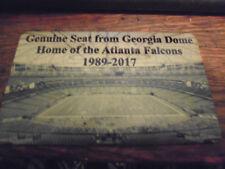 GEORGIA DOME   Stadium seat PLAQUE ATLANTA FALCONS