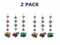 Creative Converting Under Construction Hanging Party Decorations 2PACK OF 3Piece