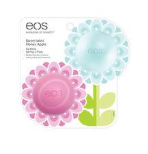 [eos] Evolution Smooth Organic Lip Balm SPRING 2-PACK SET Mint & Apple NEW