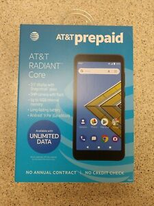 New AT&T Radiant Core - 16GB Smartphone  (AT&T Prepaid.) SEALED