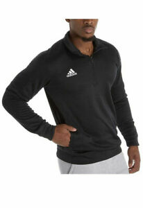Adidas Men's Athletics Team Issue 1/4 Zip Long Sleeve XL /Black-White