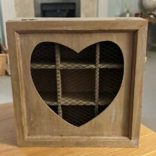 Heart Wooden Tea Box