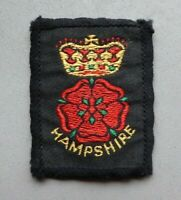 Hampshire Scouts cloth badge, approx. 2 x 1.5 inches.