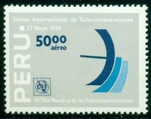 Peru Scott #C490 MNH World Telecommunications Day $$