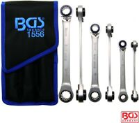 BGS Tools 3 Piece 4 In 1 Rachet Ring Spanner Set 1556