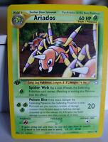 1st Edition Uncommon NH # 27/111 Neo Genesis Ariados Pokemon Card