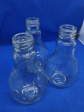 Thick Glass Edison Light Bulb Shaped Flower Vase, Table Ornament, Home Décor