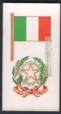 Flag And Standard Banner For Italy c50 Y/O Trade Ad Card