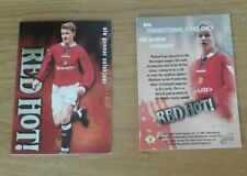 Futera RED HOT SILVER Man Utd's  RH6 Ole Gunnar Solskjaer PROMOTIONAL Card