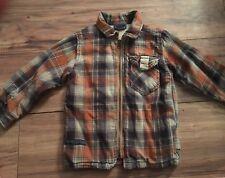 Naartjie Boys Jacket Size Xs 3 Years Brown Orange Blue