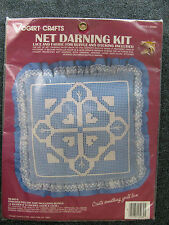 Vogart Crafts Net Darning Kit - Hearts Pillow W/Lace 14� x 14� Kit