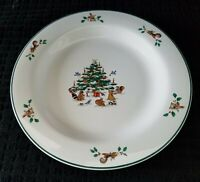 Ming Pao WOODLAND CHRISTMAS 2 Rimmed Salad Plates Vintage Replacement
