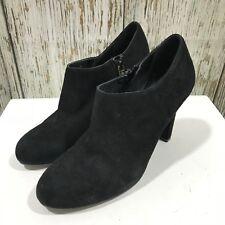 LK Bennett Nero suede shoes boot elegante zip blocco A SPILLO DONNA TG UK 39 6