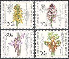 Germany 1984 Orchids/Flowers/Plants/Nature/Welfare Fund 4v set (n28267)