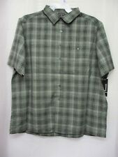 New George Big Men's Short Sleeve Microfiber Shirt Size 2XL 50/52 Green/black
