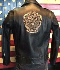 Harley Davidson CYCLE CHAMP II Leather Jacket Python Snake Inlay 97078-03VM LG