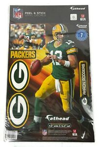 NEW NFL Green Bay Packers Aaron Rodgers #12 Fathead Wall Decals - FREE Shipping!