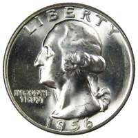1956 25c Washington Silver Quarter US Coin Uncirculated Mint State