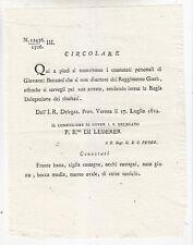 K897-LOMB.VENETO-VERONA CONNOTATI DISERTORE 1819