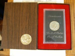1974-S Eisenhower Proof Silver Dollar In US Mint Case & Brown Box