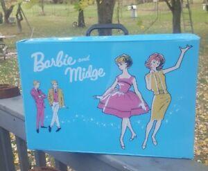 Vintage Barbie & Midge Doll Storage Accessory Wardrobe Travel Case New Old Stock