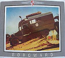 Altes Blechschild Borgward LKW Wehrmacht Sanitaeter Reklame Werbung gebraucht