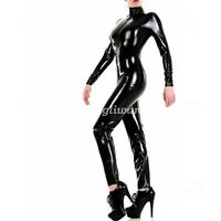 New 100% Latex Rubber Women Sexy Bodysuit Sport Tights Catsuit Size XXS-XXL