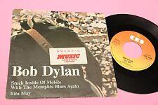 "BOB DYLAN 7"" STUCK INSIDE ORIG ITALY 1976 EX CON STICKER MENSILE MUSIC !!!"