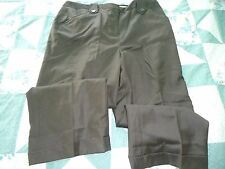 NEW Woman's size 0 Chocolate Brown Wool Crop Pants from David N