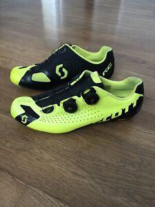 Scott RC Road Cycling Shoes EU 45 US 11 HMX Carbon Sole Black/Yellow EUC.