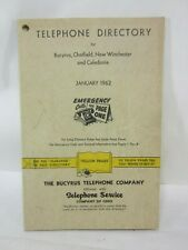1962 Bucyrus Ohio Area Telephone Directory- Yellow Pages