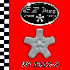 WI2922-S Silver Five Spoke Euro Style EZ Mag Wheel Inserts Fits Strombecker Cars