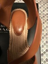 Authentic Coach Wedge Sandals, size 8.5
