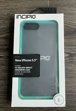New IPhone 6/7/8 Plus Incipio Octane Case- Clear/ Frosted With Bumper