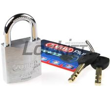 "ABUS 88/40 Padlock with 2 Plus keys and code card 5/16"" - 8mm shackle"