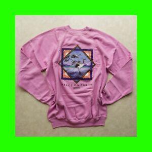 "vintage GREENPEACE SWEATSHIRT ""PEACE ON EARTH"" Whooping Crane 1986 shirt rare"