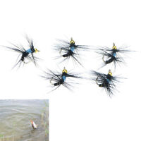 5pcs 10# fly nymph pheasant herl winged may fly trout perch fly fishing fliesLD