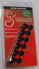 Grover 505BC6 Mini Roto-Grip Locking Rotomatic Tuners 6 In-Line, Black Chrome