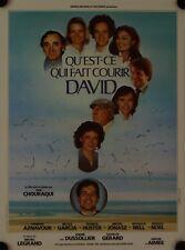 Affiche Cinéma QU'EST-CE QUI FAIT COURIR DAVID 1981 CHOURAQUI - 40x60