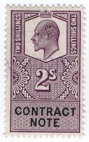 (I.B) Edward VII Revenue : Contract Note 2/- (1910)