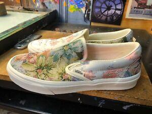 Vans Classic Slip On Tapestry Multi Snow White  Size US 8.5 Men (10 Women) New
