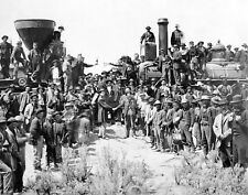 """LAST SPIKE"" CELEBRATION OF FIRST TRANSCONTINENTAL RAILROAD 11X14 PHOTO (LG-176)"