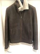 Blake Hedley Shearling Sheepskin Aviator Jacket Bournville Large/XL