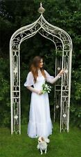 "Antique Cream Ornate ""Lady Clemence"" Garden Rose Arch"