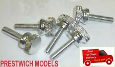 5 x ALUMINIUM THUMBSCREWS M4 thread for panel and cover fixing pcb
